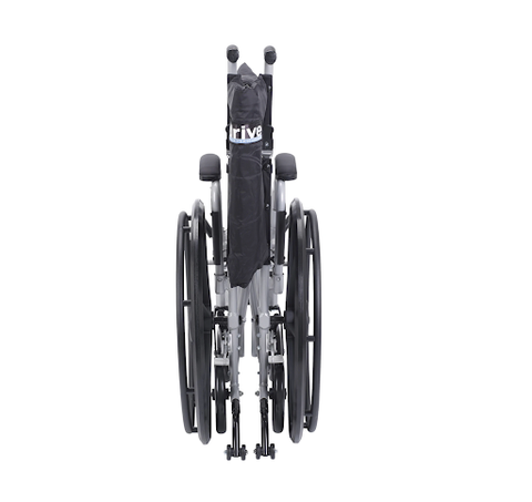 Drive Medical: Poly Fly Light Weight Transport Chair Wheelchair with Swing Away Footrests