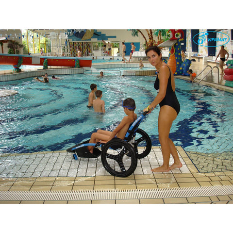 Vipamat: Hippocampe Swimming Pool Wheelchair - 0002-TS-02-BU - Side Pool View