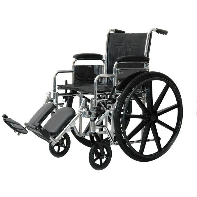 "Compass Health: ProBasics K1/K2 Deluxe Wheelchair with 18"" x 16"" Seat, Removable Desk Length Arms and Elevating Legrests - PBVU09 Main View"