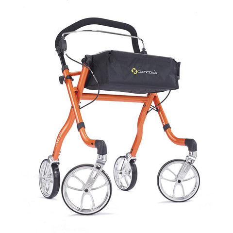 Comodita: Avanti Walker Rollator - COM 800 Orange  Side View