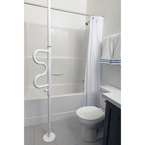 Stander: Security Pole & Curve Bar - 1100 - Full View