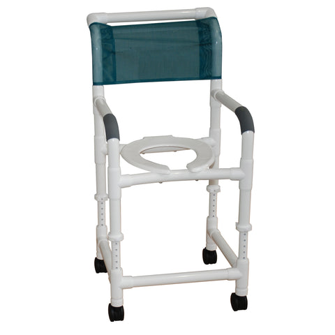 MJM International: Adjustable Height Rolling Shower Chair - 118-3-ADJ - Actual Image