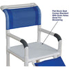 Image of MJM International: Shower Chair with Flat Stock Seat for Uni-Lateral or Bi-Lateral below Knee Amputee - 118-3-AF - Parts Overview