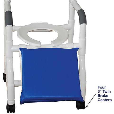 MJM International: Shower Chair for Uni-Lateral or Bi-Lateral Below Knee Amputee - 118-3-A - Parts Overview