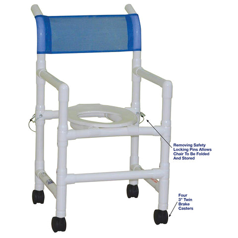 "MJM International: Folding Shower Chair Allows for ""No More Crowded Shower Rooms"" - 118-3-FD - Parts Overview"