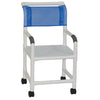 Image of MJM International: Shower Chair with Flat Stock Seat - 118-3-F - Actual Image