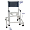 "Image of MJM International: Shower Chair with Outriggers ""Outriggers Provide Maximum Stability"" - 118-3-SAFE - Parts Overview"