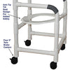 Image of MJM International: Shower Chair with Tilt Seat - 118-3-TS - Parts Overview