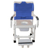 Image of MJM International: Shower Chair with Vacuum Seat, Sliding Footrest Support and Dual Swing Away Armrests and Square Pail - 118-3-VS-SFS-DDA-SQ-PAIL - Full Picture