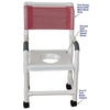 Image of MJM International: Shower Chair with Vacuum Seat - 118-3-VS - Parts Overview