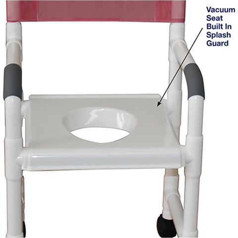 MJM International: Shower Chair with Vacuum Seat - 118-3-VS - Parts Overview