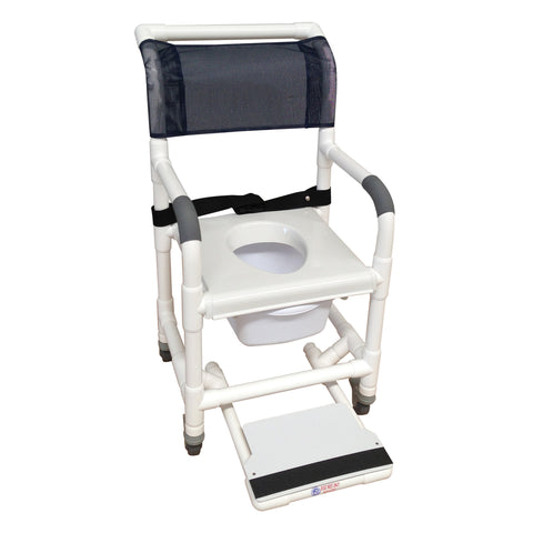 MJM International: Universal Shower Chair - 118-3TL-VS-BB-18-SQ-PAIL-SF - Actual Image