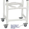 Image of MJM International: Superior Shower Chair with Total Lock Casters - 118-3TL - Parts Overview