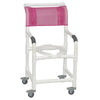 Image of MJM International: Superior Shower Chair with Total Lock Casters - 118-3TL - Actual Image