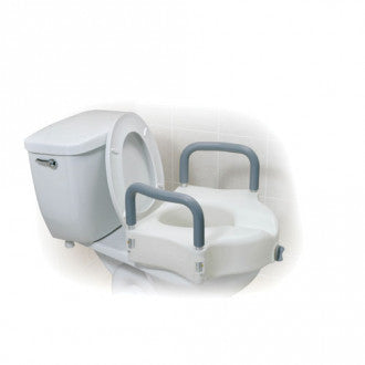 Drive Medical: 2-in-1 Locking Raised Toilet Seat with Tool-free Removable Arms