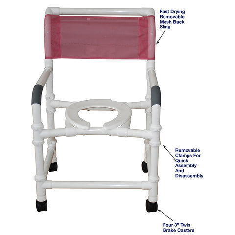 MJM International: Superior Knockdown Mid Size Shower Chair - 122-3-KD - Parts Overview