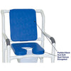 Image of MJM International: Mid Size Shower Chair with Soft Seat Deluxe Elongated and Square Pail - 122-3-SSDE-CBP-SQ-PAIL-BL - Parts Overview
