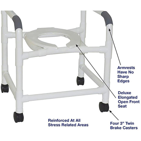 MJM International: Mid Size Shower Chair - 122-3 - Parts Overview