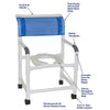 Image of MJM International: Mid Size Shower Chair - 122-3 - Parts Overview