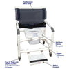 Image of MJM International: Wide Shower Chair With Total Lock Caster Soft Seat Deluxe Elongated, Safety Belt and Total Lock Casters - 126-3TL-NB-SSDE-BB-26-SF - Actual Image