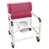 Image of MJM International: Wide  Shower Chair With Total Lock Casters - 126-3TL-NB - Front View