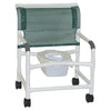 Image of MJM International: Wide Shower Chair With Square Pail - 126-4-NB - Front Image