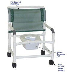 MJM International: Wide Shower Chair With Square Pail - 126-4-NB - Actual Image