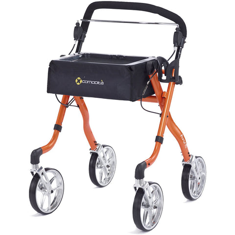 Comodita: Avanti Walker Rollator - COM 800 Orange Back View
