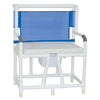 Image of MJM International: Bariatric Bedside Commode With Cushion Seat - 130-C10-W-BCS - Front View