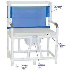MJM International: Bariatric Bedside Commode With Cushion Seat - 130-C10-W-BCS - Actual Image