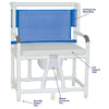 Image of MJM International: Bariatric Bedside Commode With Cushion Seat - 130-C10-W-BCS - Actual Image