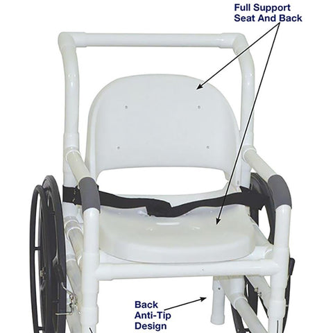 MJM International: Multi-Purpose Chair (Shower Chair, Transferchair and Pool Access) - 131-18-24W-FS - Parts