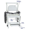 Image of MJM International: Multi-Purpose Chair (Shower Chair, Transferchair and Pool Access) - 131-18-24W-FS - Actual Image