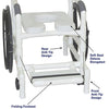 Image of MJM International: Multi-Purpose Chair (Shower Chair, Transferchair) - 131-18-24W - Parts Overview