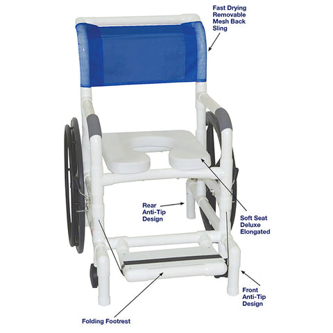 MJM International: Multi-Purpose Chair (Shower Chair, Transferchair) - 131-18-24W - Actual Image