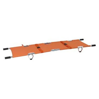 FEI: Folding Stretcher with Handles, Aluminum, Orange Color - 16-1906 - Actual Image