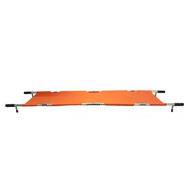 FEI: Four Fold Stretcher, Aluminum, Orange Color with Handles & Bag - 16-1907 - Actual Image
