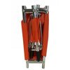 Image of FEI: Four Fold Stretcher, Aluminum, Orange Color with Handles & Bag - 16-1907 - Folding View