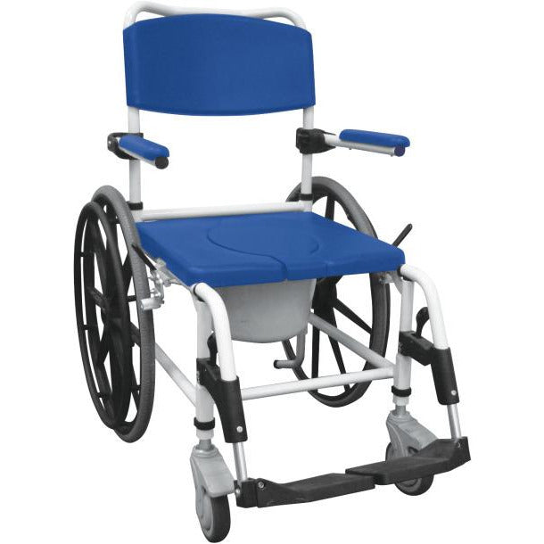 Drive Medical: Aluminum Rehab Shower Commode Chair - NRS185006