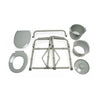 Image of Graham Field: Lumex Bariatric Steel Folding Commode - 7109A-2