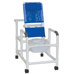 MJM International: Reclining Shower Chair With Squre Pail - 194-SQ-PAIL - Actual Image