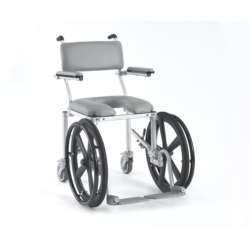Nuprodx: Self-Propelled Shower & Commode Chair - Narrow Profile