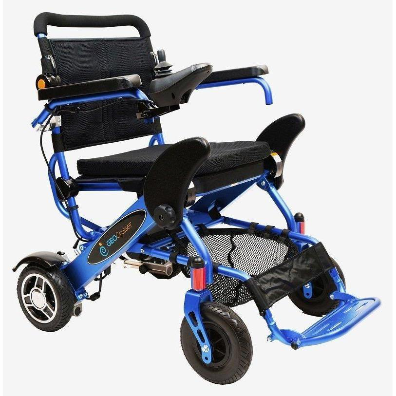Geocruiser (Pathway Mobility): Geo Cruiser DX Lightweight Foldable Power Chair (Blue) - GC-216B-01