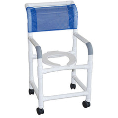 "FEI: MJM International, Shower Chair 18"", 3"" Twin Casters - 20-4230"