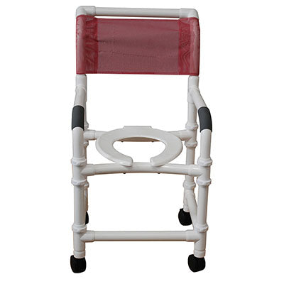 "FEI: MJM International, Shower Chair 18"", 3"" Twin Casters With Fastener Plugs - 20-4232"