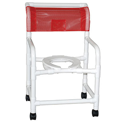 "FEI: MJM International, Wide Shower Chair 22"" With 3"" Twin Casters - 20-4236"