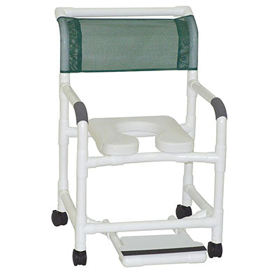 "FEI: MJM International, Deluxe Wide Shower Chair 22"" With 3"" Twin Casters - 20-4238"