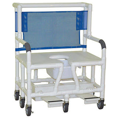 "FEI: MJM International, Bariatric Shower Chair 30"" (6-HEAVY DUTY CASTERS 5"" x 1 1/4"") - Footrest - 20-4242"
