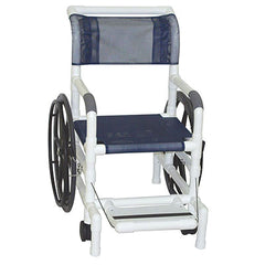 "FEI: MJM International, AQUATIC/REHAB Shower Transport Chair 18"" With 24"" Rear Wheels - Mesh Sling Seat - 20-4243"