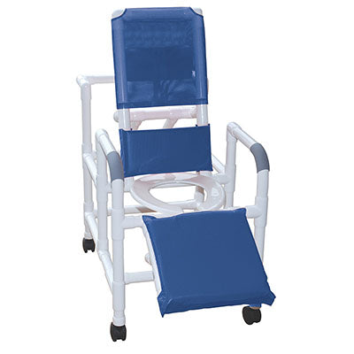 FEI: MJM International, Reclining Shower Chair With Deluxe Elevated Leg Extension - 20-4245
